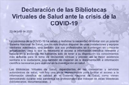 Declaració de les biblioteques virtuals de salut davant la crisi de la COVID-19