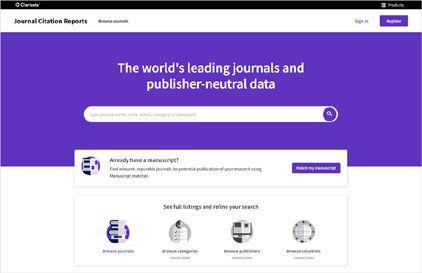 Nova versió del Journal Citation Reports