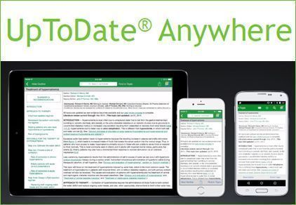 Nuevas sesiones! UpToDate Anywhere: aplicaciones móviles para iOS y Android