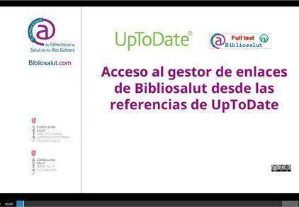 Acceso al gestor de enlaces de Bibliosalut desde las referencias de UpToDate